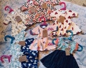 Lot SALE 8 Baby Dresses Size Newborn-3mo. Spicy Toast Handmade