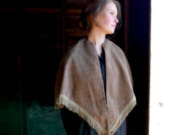 Civil War Era Shawl With Silk Fringe