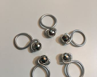 Disco Ball Loop Snagless Stitch Markers