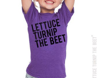 SALE lettuce turnip the beet® trademark brand official site - purple heather shirt with classic logo - garden, vegetable, summer camp
