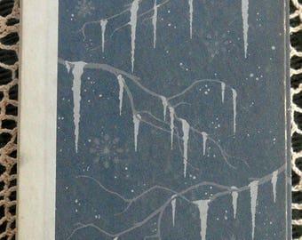 Handbound Artist Journal from Vintage Book Winter Icicles