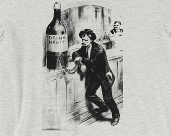 Chained to the Drink Habit | Edwardian Prohibtion Unisex T-Shirt