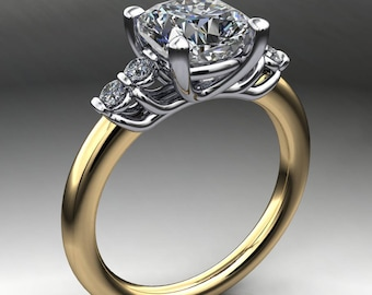 dallas ring – 2 carat cushion cut NEO moissanite engagement ring