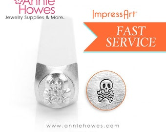 Impressart Metal Stamp  - Skull and Bones Design Stamp