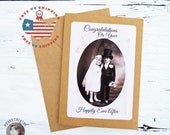 Wedding Card- Congratulations on Your Happily Ever After- Kraft Card Stock- Blank Inside- FREE US SHIPPING