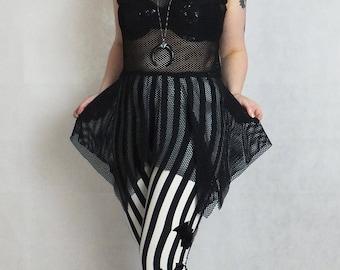 Mesh Gothic Industrial Tunic Top, Custom Size, genderfree