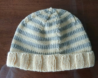 Yellow and green baby hat