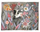 Badger's Dream- Print of original watercolor painting