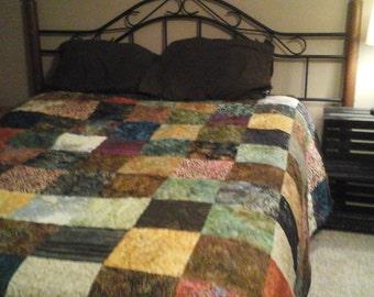 King size bohemian quilt