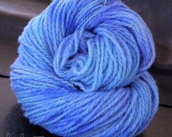 Corriedale Handspun Yarn Hues of Blue