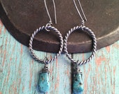 courage & strength.  turquoise chorus earrings