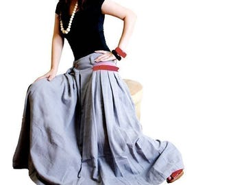 Free Shipping SALE - less is more RED POCKET - long skirt (Q1001)