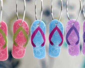 Flip Flop Earrings, flip flops dangles, choose your color.