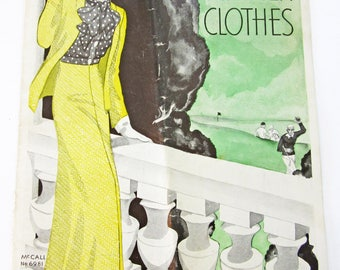 1930's Vintage Pattern Catalog Booklet Your Summer Clothes 1932 - ORIGINAL