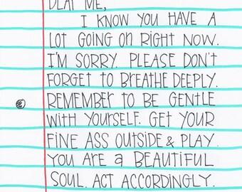 Dear Me.