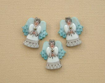 Angel Button set of 3