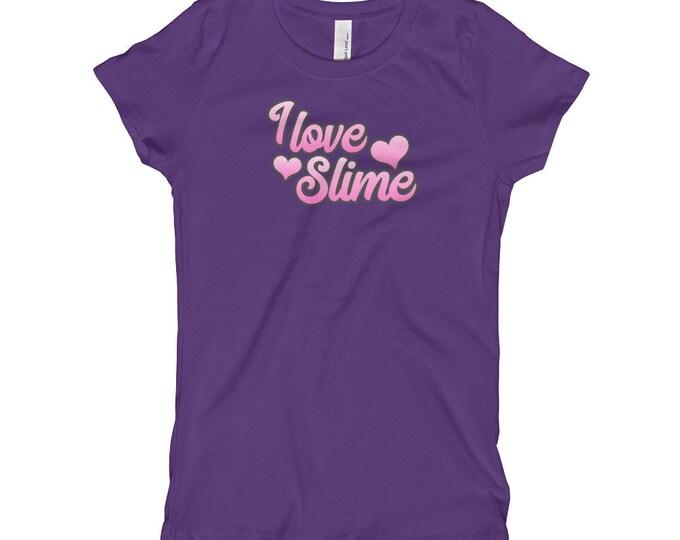 I Love Slime, Girl's T-Shirt