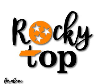 Tennessee TN Rocky Top Tristar State - SVG, EPS, dxf, png, jpg digital cut file for Silhouette or Cricut Tri-star Proud Strong