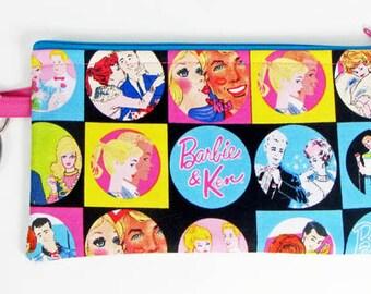 Vintage Barbie & Ken, wristlet wallet, smartphone wristlet, wristlet for iphone, iphone wristlet case, cellphone wallet, wristlet keychain