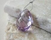 Pink Amethyst Faceted Teardrop Bead 12.75x18mm - Gemstone Focal Pendant