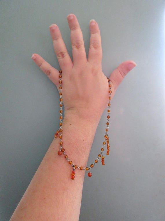 Amber Pi Necklace Fall Sciart Jewelry Math Nerds