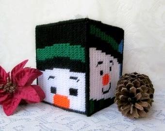 Kleenex cover etsy for Snowman pocket tissues