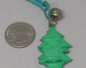1980s Bell Charm - Christmas Tree - Jewelry - Charm Necklace - Keychain - Zipper Pull - Kawaii - 80s Party - Xmas, Holiday, Gift Idea