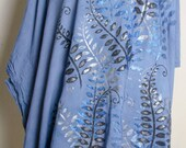 Garden Ocean sky dyed handmade ladies art womens dress India Meditation Top Shirt yoga Tunic plus size 2x xxl xxxl 3x 4x poncho
