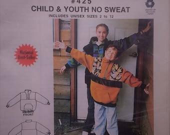 Child Youth Jacket Pattern Macphee Workshop Unique Pattern 425 Original Design Child Youth Size 2 to 12 windbreaker,pullover jacket