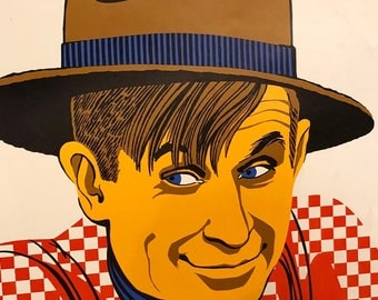 Vintage 1968 Will Rogers Poster by Elaine Hanelock