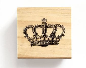 Crown - Rubber Stamp, Gift Tags, Love Gift, Branding, Packaging, Invitations, Party, Favors, Wedding Gift