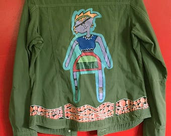 One of a kind, Light-weight, Hand-Painted Jacket
