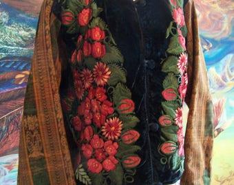 Guatemalan Jacket, Embroidered, Guatemala, Gypsy, Autumn, Boho, Coat, size M