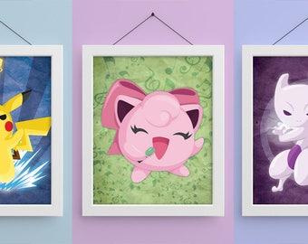 Pokemon 8x10 Prints