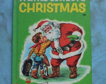 Vintage 1951 A Little Cowboy's Christmas Wonder Book Marcia Martin