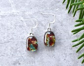 Lava Dichroic Glass Earrings
