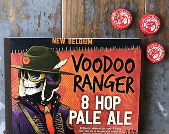 Recycled Six Pack Notebook New Belgium Voodoo Ranger Pale Ale