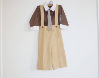 Vintage Brown Boy's Outfit