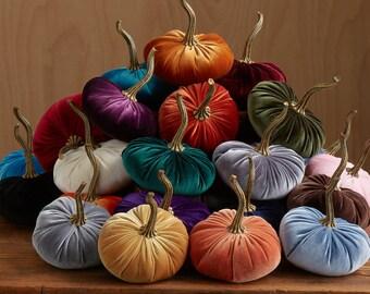 WHOLESALE listing, Velvet Pumpkins, MINIMUM 24 pieces