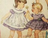 UNCUT, Vintage, 1960s, Sewing Pattern, Simplicity 3807, Toddler, Size 3, Dress, Pinafore, Panties, 1960s Pattern, Girls', OLD2NEWMEMORIES