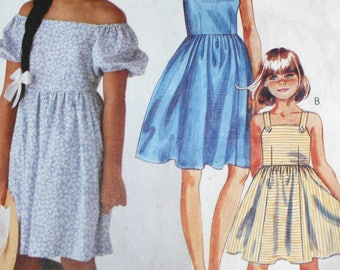 Vintage, 1980s, Sewing Pattern, McCalls 3745, Girls, Dress, Size 14, Sundress,1980s Pattern, OLD2NEWMRMORIES