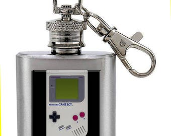 Vintage Game Boy  1 Ounce Keychain Flask