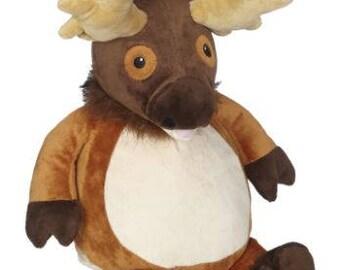 personalized baby gift, Elk, Edward Elk stuffed animal, keepsake, Embroider Buddy, First Communion, Baptism, best baby gift EVER!