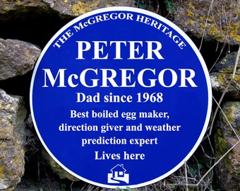 Personalised Blue Plaque