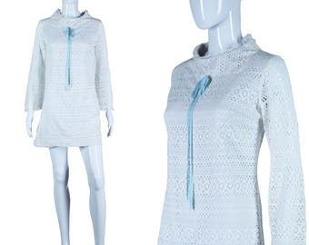 60s Micromini Dress 1960s Mini Dress Lace Go-Go Dress Ultra Mod Dress Bell Sleeve Dress