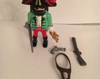 Playmobil pirate with eye patch and accessories
