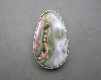 Ocean Jasper Pendant Sterling Silver