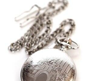 Pocketwatch , Silver Pocketwatch , Pocketwatch Case , Travel Gift , Travel , Gift for Men , Steampunk Men , Steampunk , Gothic Valentine