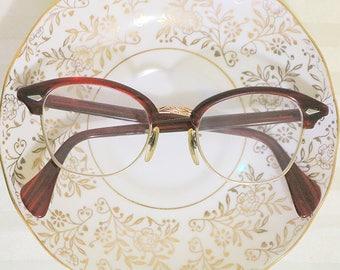 TORTOISESHELL 1950s 12k Gold Filled Eye Glasses, Vintage Glasses, Gold Glasses, Vintage Sunglasses, Vintage Eyewear, Horn Glasses, Shell