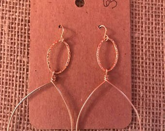14k gold filled double oval drops